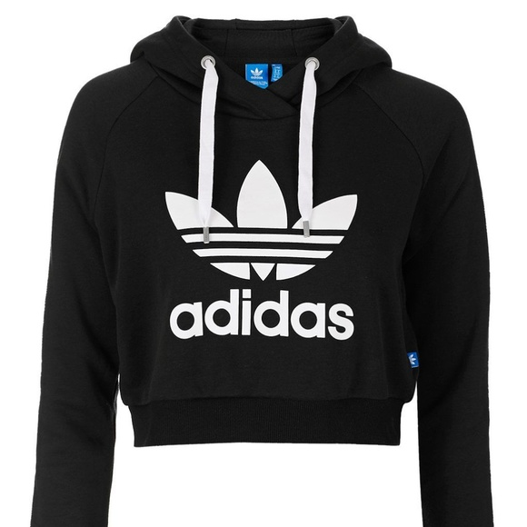 4d72067f adidas Women's Cropped French Terry Hoodie